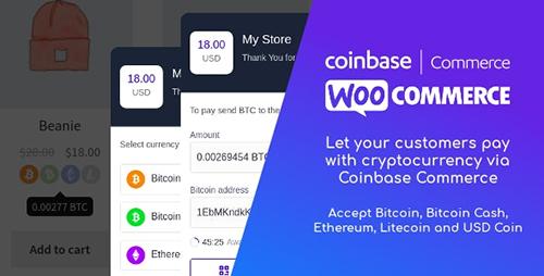 افزونه Coinbase Commerce پرداخت با ارزهای دیجیتال ووکامرس