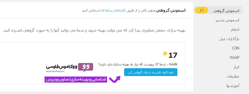 افزونه اسموش پرو فارسی Smush Pro